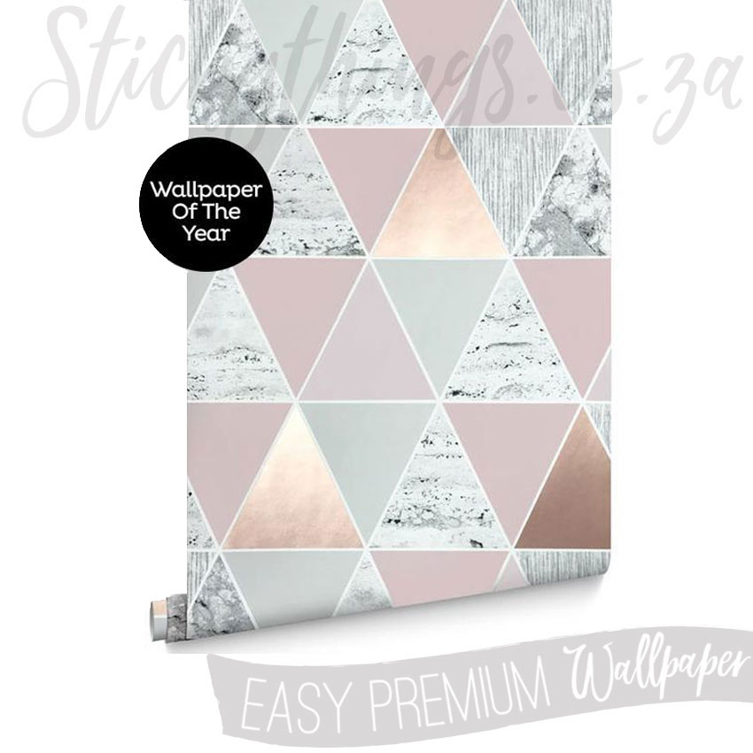 Triangle Rose Gold Wallpaper  Rose Gold Reflections Wallpaper