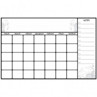 Dry Erase Calendar Wall Decal - Peel & Stick Wall Sticker ...