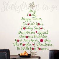 Christmas Tree Wall Art Decal - Christmas Giant Wall ...