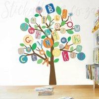 Alphabet Tree Wall Sticker - ABC Tree Giant Wall Decal ...