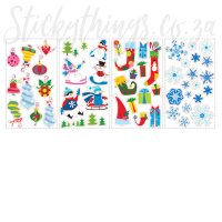 Re-usable Christmas Let it Snow Wall Stickers ...