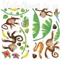 Monkey Wall Stickers - Monkey Business Wall Decals ...