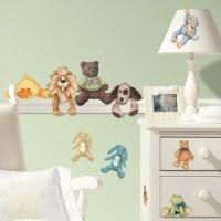 Baby Animals & Teddy Bear Wall Stickers - Cuddle Buddies ...