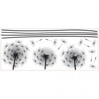 Peel & Stick Giant Blowing Dandelion Wall Decal ...