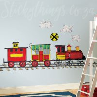 Giant Train Wall Sticker - Peel & Stick Train Wall Decal ...