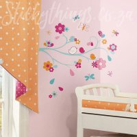 Bird and Butterfly Branch Decal - Giant Wall Sticker ...