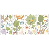 Forest Woodland Animal Wall Decals - Woodland Animals Wall ...