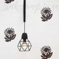 Pattern Protea Wall Stickers - 17cm Protea Decal Pattern ...