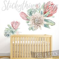 Protea Oversized Floral Wall Stickers - Protea Giant ...