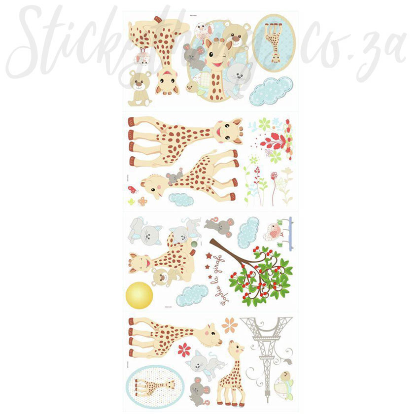 sophie the giraffe wall stickers sophie la girafe wall decals