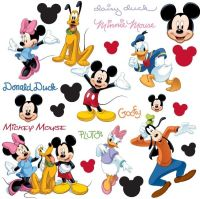 Disney Mickey Mouse Wall Stickers - Mickey and Friends ...