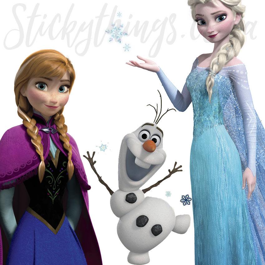 Bumper Frozen Decal Set Disney Elsa Anna Olaf Frozen Wall Decals