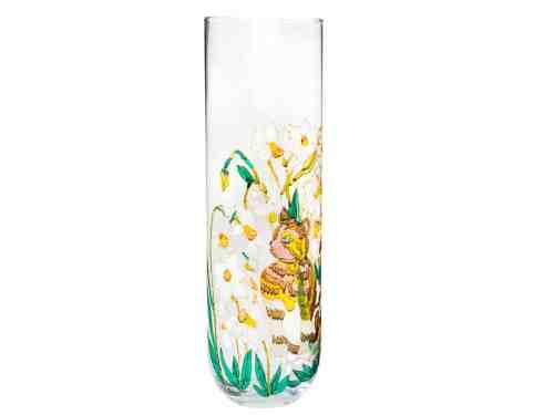 Vaza Cu Narcise Si Pisicuta