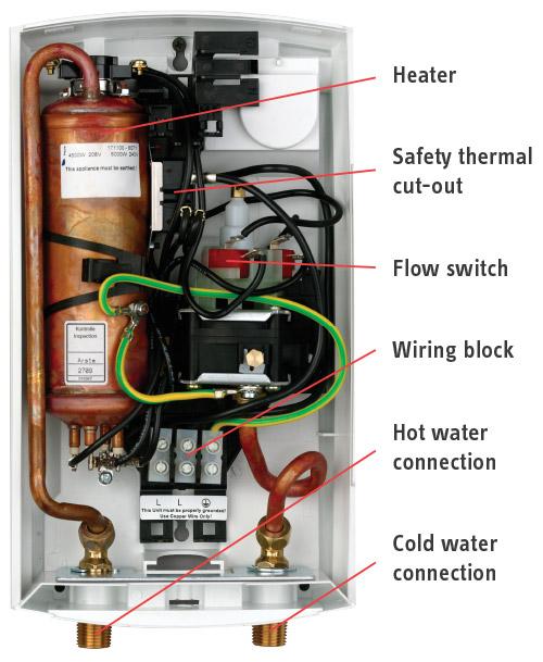 instant water heater wiring diagram