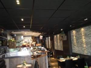 Donker plafondsysteem