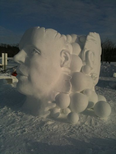 Wilfred Stijger & Edith Van de Wetering ice snow sculptue