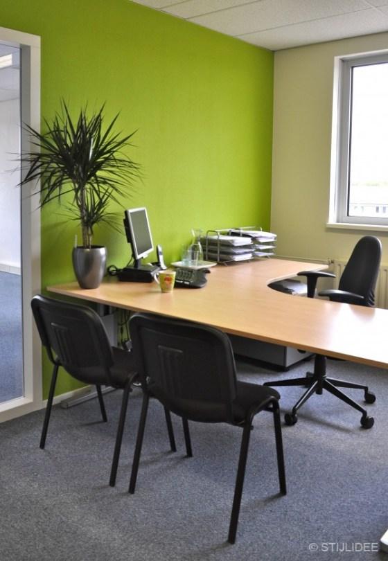 groen kantoor in Capelle na STIJLIDEE Kleuradvies, Interieuradvies en Styling