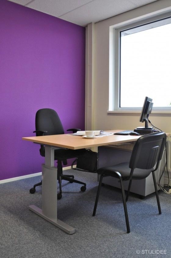 paars kantoor in Capelle na STIJLIDEE Kleuradvies, Interieuradvies en Styling
