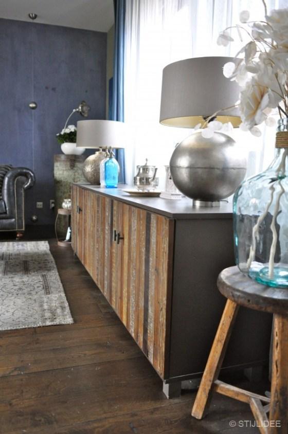 dressoir in woonkamer Vleuten na STIJLIDEE interieuradvies
