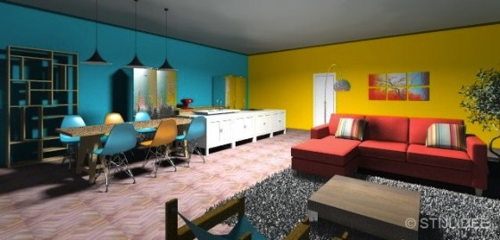 STIJLIDEE Keukenontwerp voor een familiehuis met kleur | SieMatic Stylist