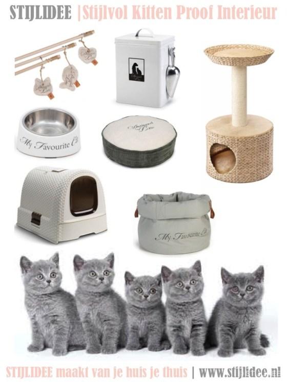 5 Styling Tips voor een stijlvol kitten proof interieur | Moodboard STIJLIDEE Interieuradvies en Styling