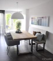 Binnenkijken in ... een eethoek in modern landelijke stijl in een huis in Houten na STIJLIDEE Interieuradvies en Styling