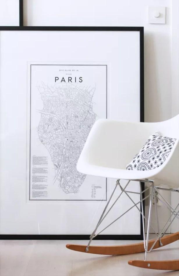 Interieur   Decoratieve plattegrond van wereldsteden