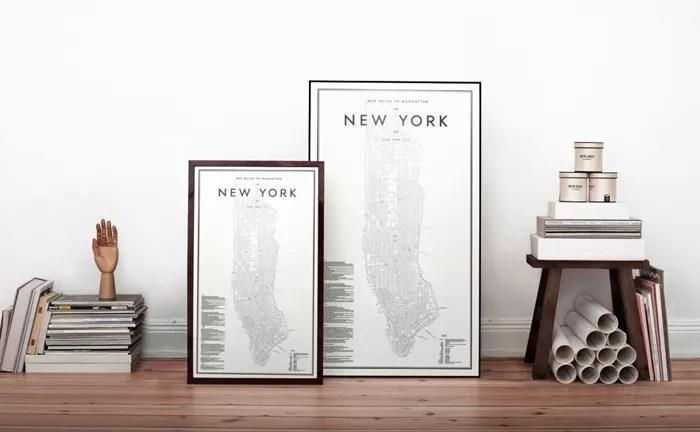 Interieur   Decoratieve stadsplattegronden van wereldsteden