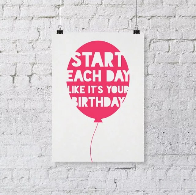 Interieur | Spreuken aan de muur -Wall decor, inspirational print, inspirational quote, birthday print, motivation print, inspirational poster, balloon print, for friends