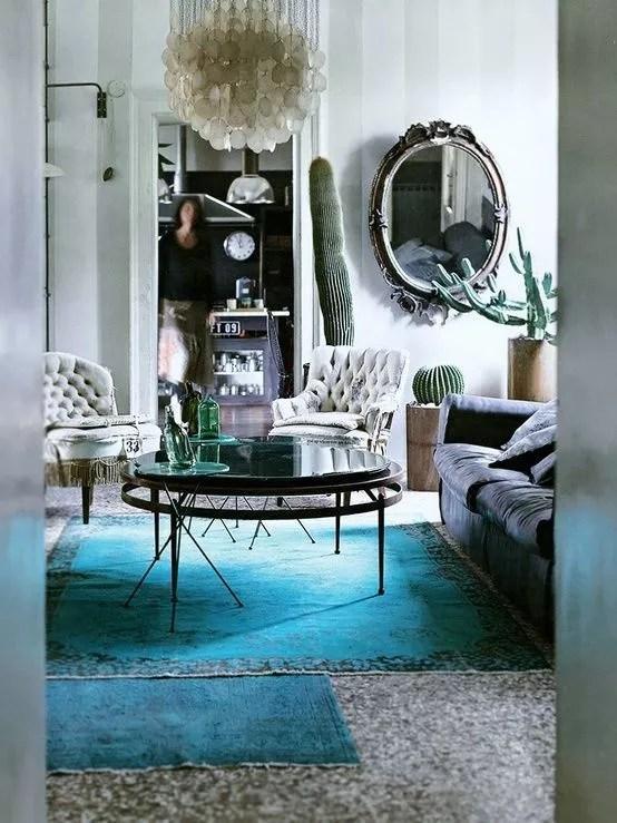 Kleur  Interieur  Turquoise interieur styling  Stijlvol