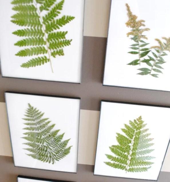 DIY   Ingelijste gedroogde bladeren - www.stijlvolstyling.com