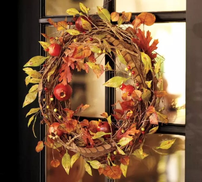 faux-harvest-fruits-wreath-for-door-decor