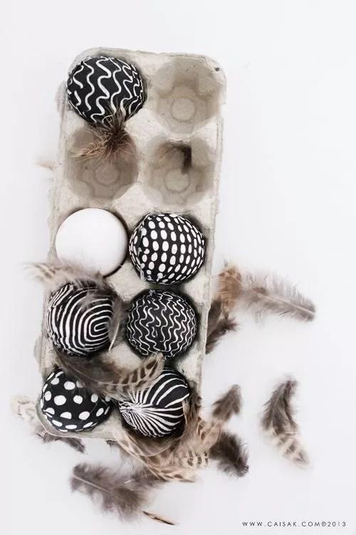 Feestdagen | Paas ideeën in zwart wit - Stijlvol Styling woonblog
