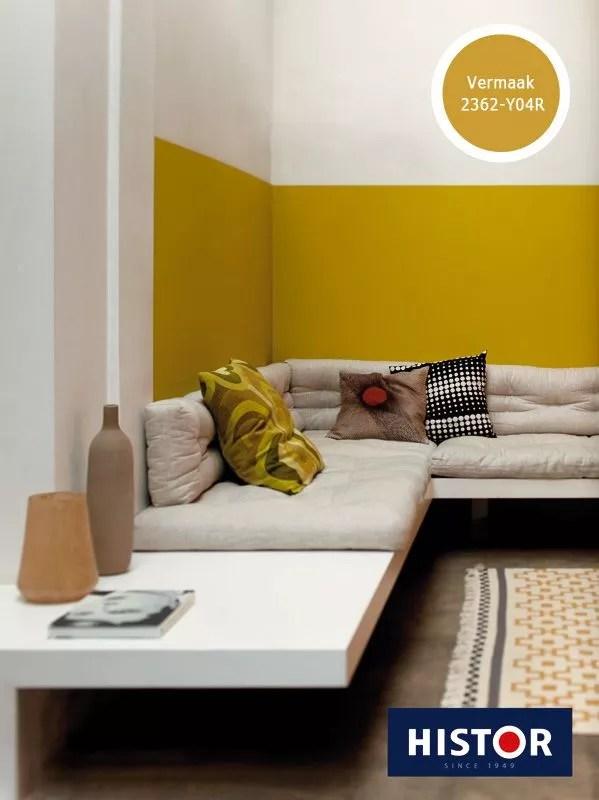 Kleur  Interieur  Geel brengt het zonnetje in huis