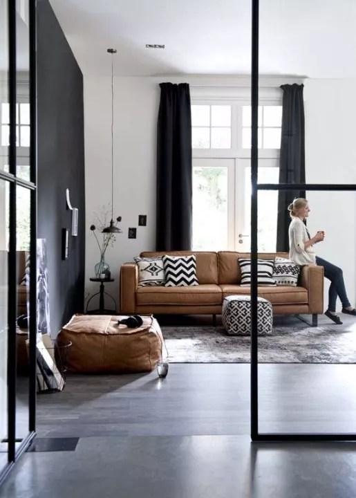 interieur inspiratie | 15x een stijlvolle zwart wit woonkamer, Deco ideeën
