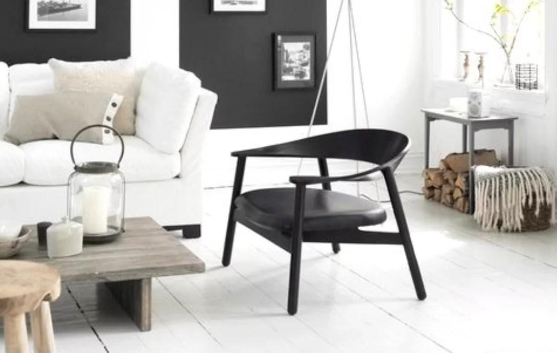 Interieur inspiratie een stijlvolle zwart wit woonkamer