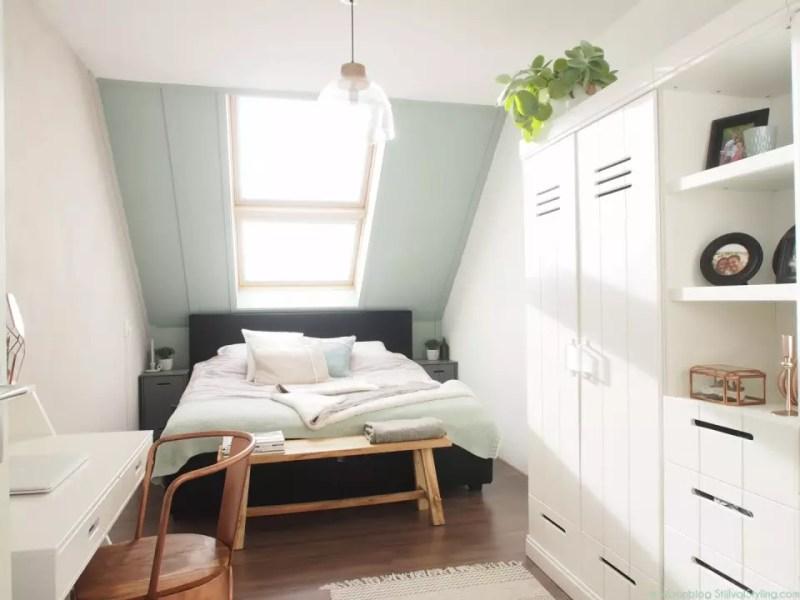 © Woonblog - StijlvolStyling.com   Ontwerp & styling SBZ Interieur Design   Slaapkamer kleuren Early Dew, Fresh linen & Urban Taupe van Flexa Creations #Flexanl #interieuradvies #kleuradvies #woonblog