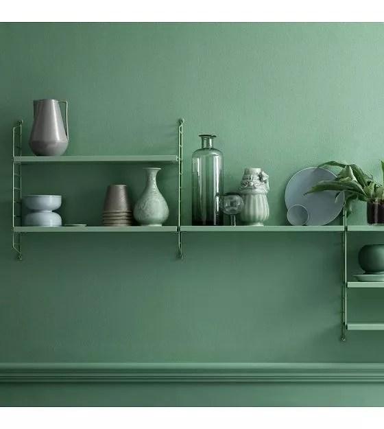 string-wandplank-pocket-groen-hout-metaal-60x50x15