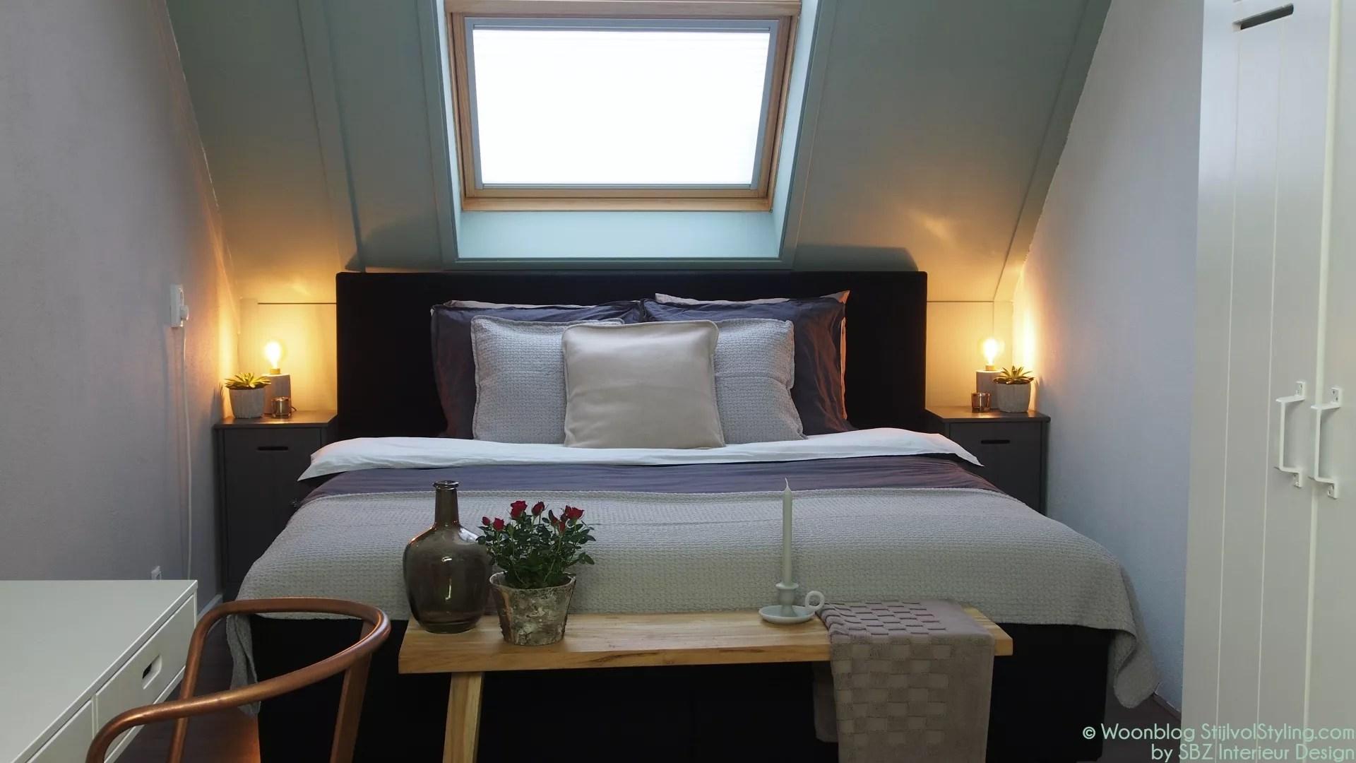 interieur slaapkamer op zolder stijlvol styling woonblog voel je thuis