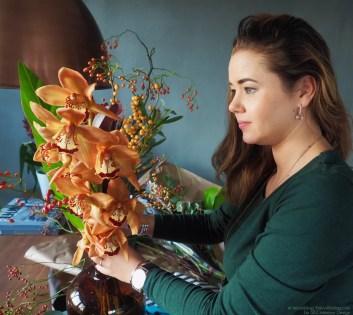 Cymbidium bloemstyling event © Woonblog StijlvolStyling.com