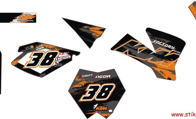 striping motor ktm 85 factory racing