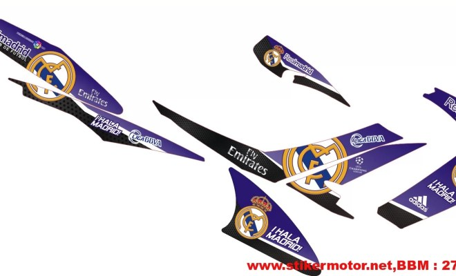 striping motor satria fu real madrid