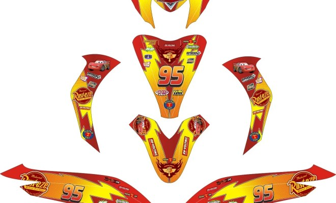 striping motor spacy lightning mcqueen