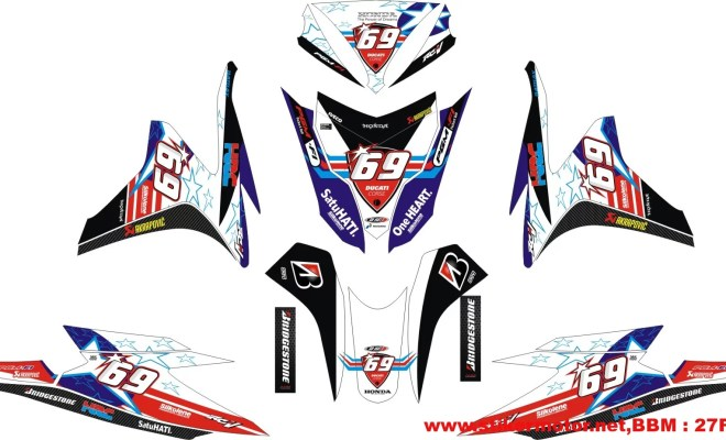 striping modifikasi honda VARIO techno fi NICKY HAYDEN