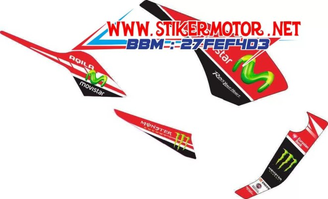 striping motor byson movistar red