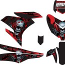 STICKER STRIPING DECAL MOTOR YAMAHA MX KING 150 black skull horror