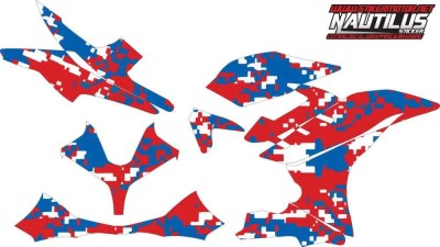 Stiker R15 army red