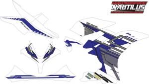 Stiker R15 grafish blue