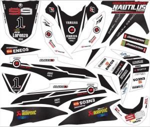 Stiker motor Soul GT LORENSO hitam