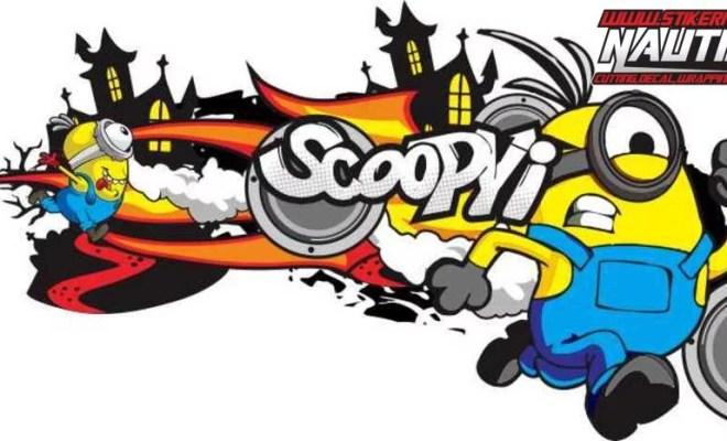 Stiker Motor scoopy minion